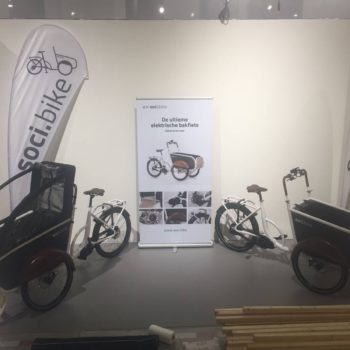 soci.bike op Dutch Design Week opbouwen stand