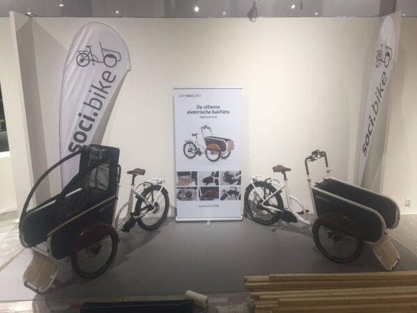 soci.bike op Dutch Design Week opbouwen stand