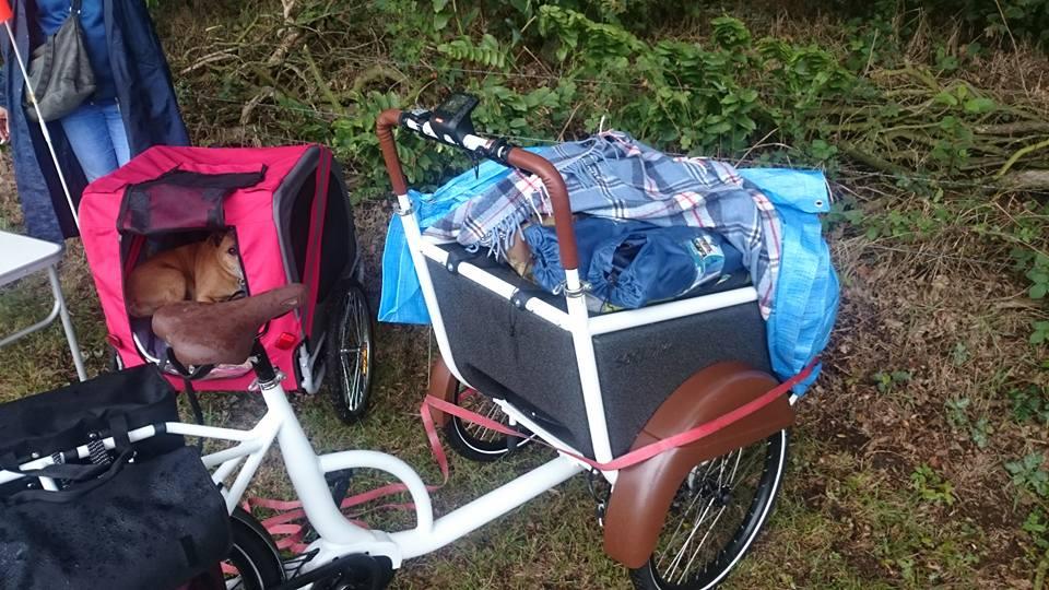 Vakantiespullen in de bak van de soci.bike