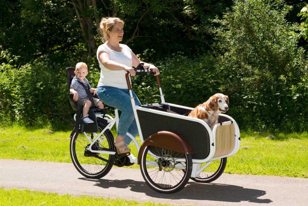 Elektrische bakfiets voor honden