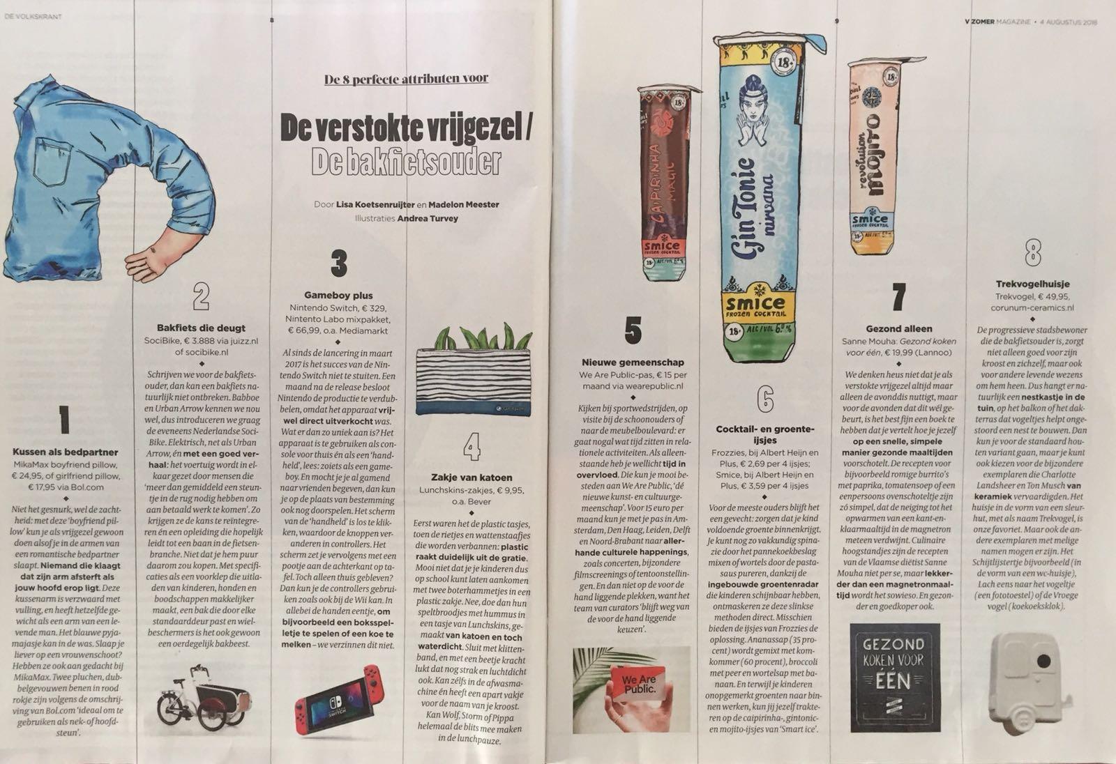 soci.bike in Volkskrant V Zomer Magazine