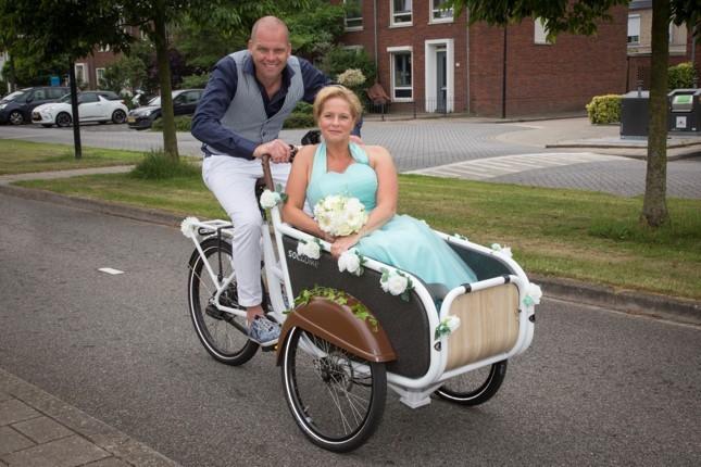 Daar komt de bruid - soci.bike elektrische bakfiets