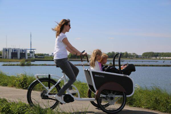 soci.bike bakfiets bak, maxi-cosi, moederfiets
