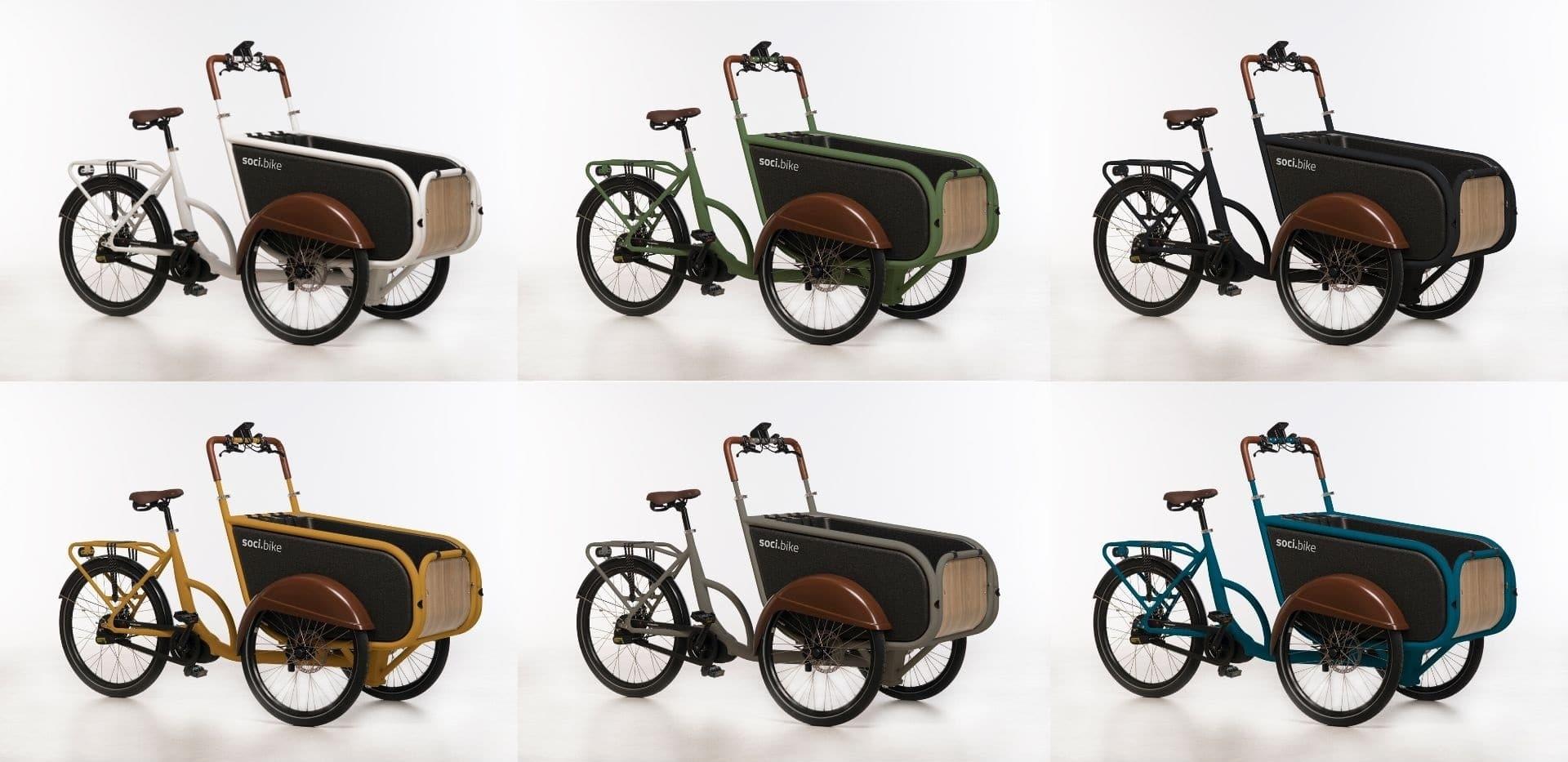 soci.bike bakfiets leverbaar in nieuwe kleuren