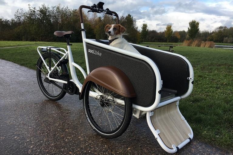 soci.bike bakfiets hond