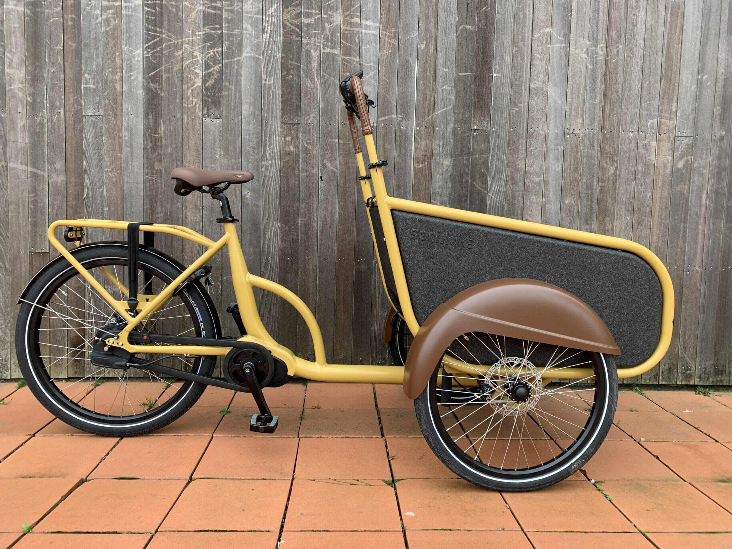 soci.bike bakfiets okergeel