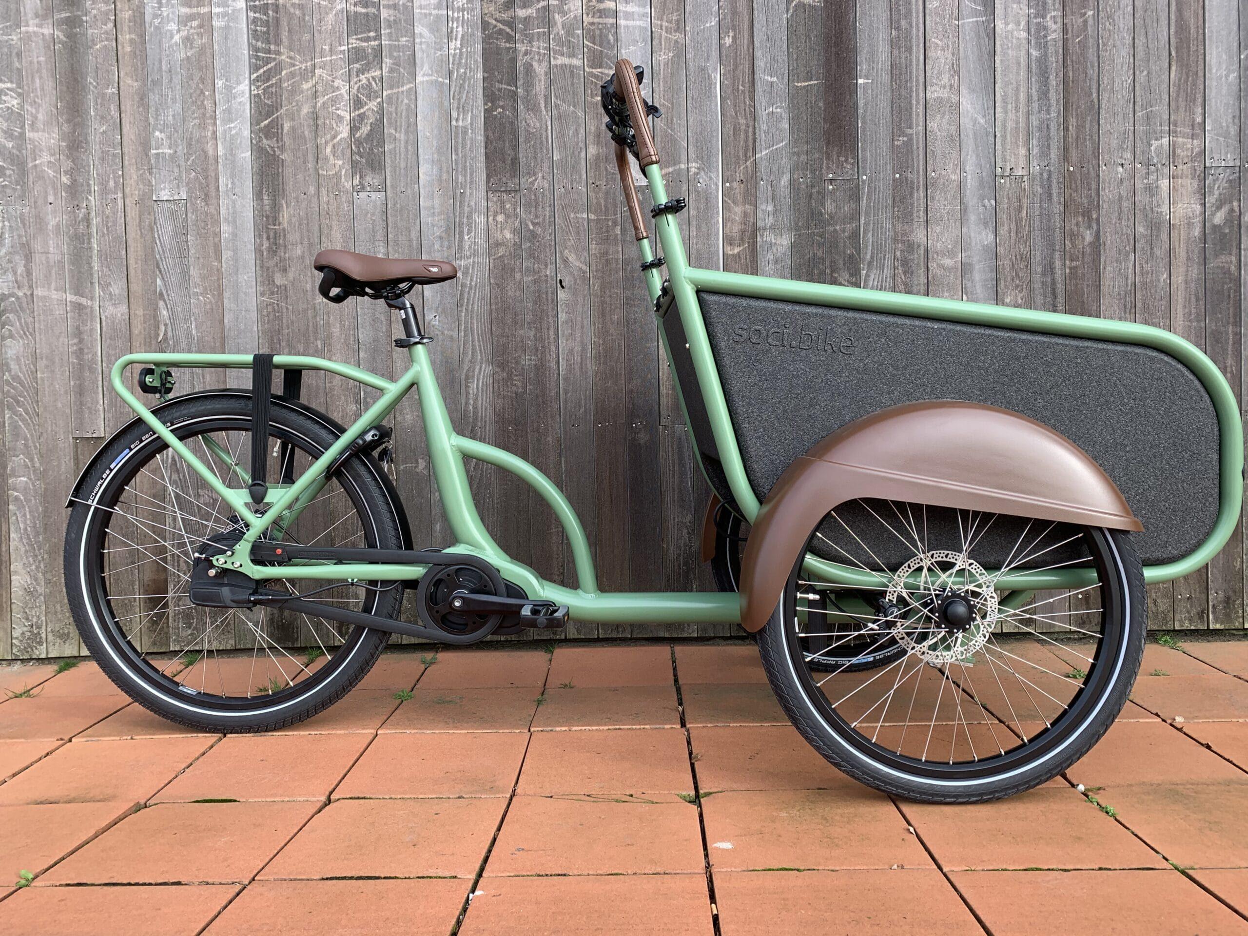 soci.bike bakfiets resedagroen