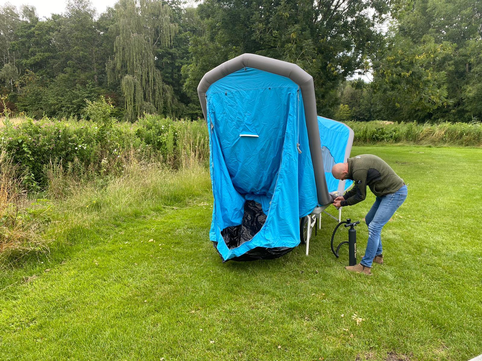 Reisverslag soci.bike met B-Turtle tent