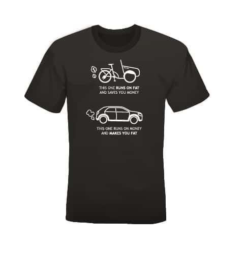 soci.bike t-shirt fiets auto zwart