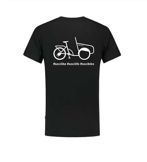 soci.bike t-shirt logo zwart